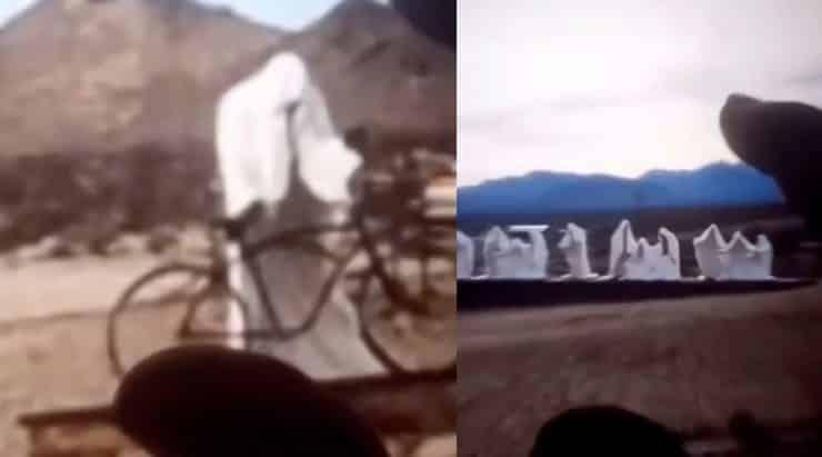 Misteri terbongkar di sebalik penampakan 'manusia' berselubung putih di tengah gurun, tak sangka ini jawapannya